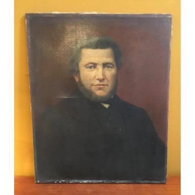 Ecole Française du XIXème siècle - Portrait d'homme