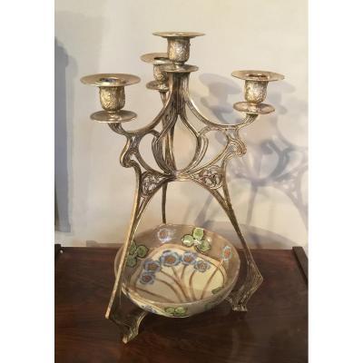 Candélabre Art Nouveau