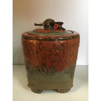CANONNE Jean-Claude (XX-XXIème siècles) - Pot couvert
