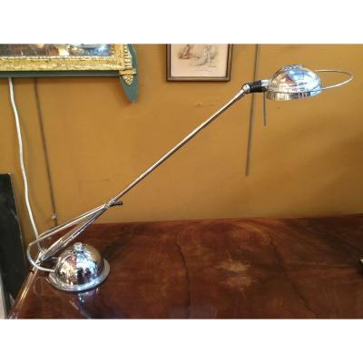 Lampe de bureau, chromée, années 50