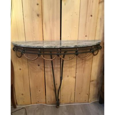 Wrought Iron Console, 1950s