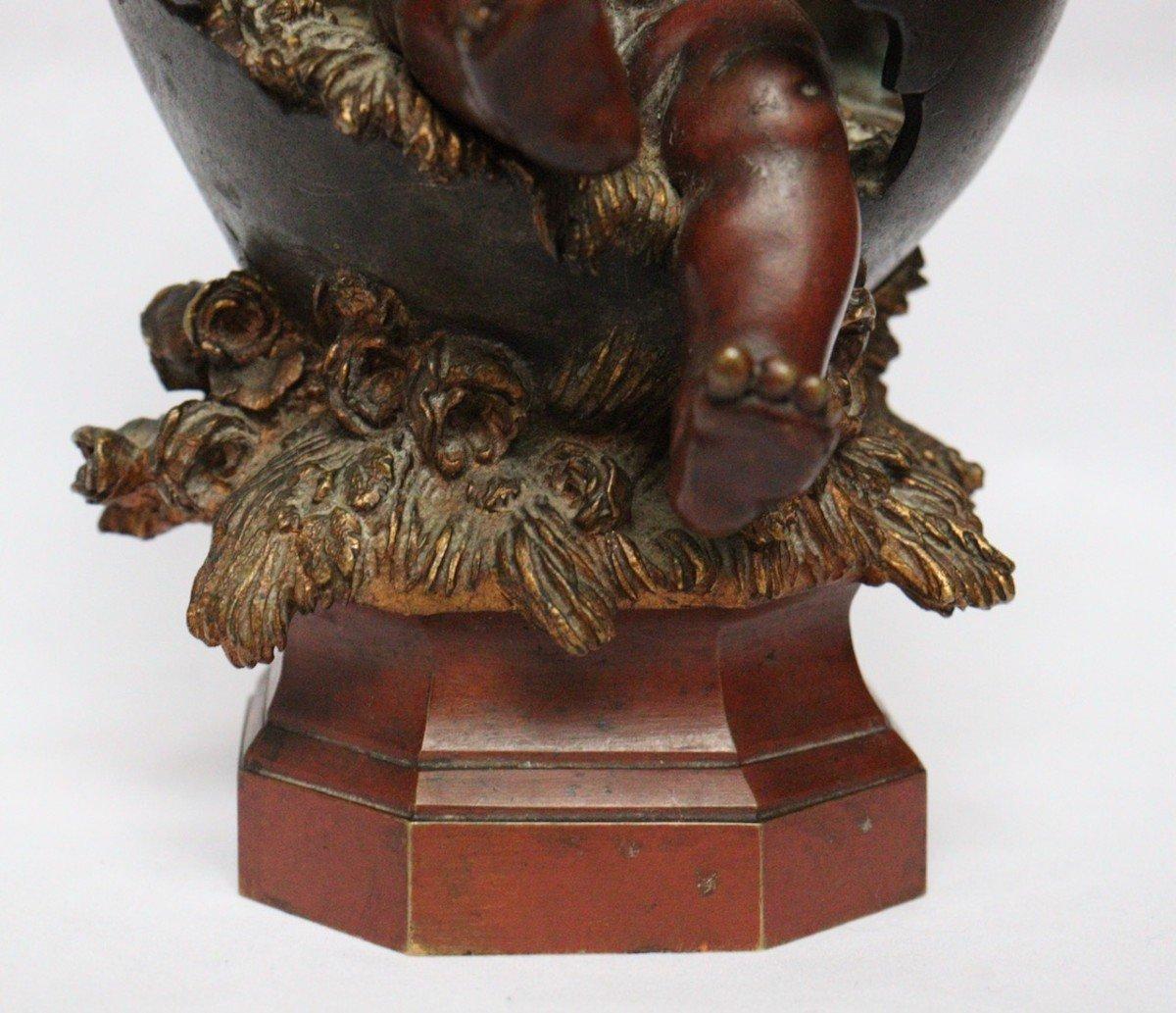 """""""Amour sortant de l'Oeuf"""" Figure en bronze par Auguste Moreau (1834-1917)-photo-5"""