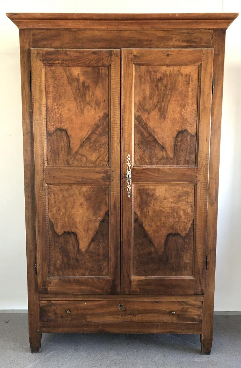 Rustic Wardrobe In Walnut