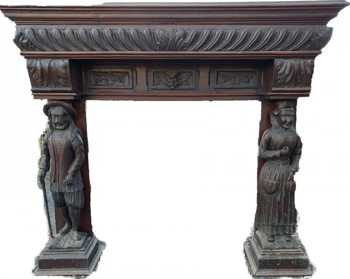 Imposing Breton Fireplace