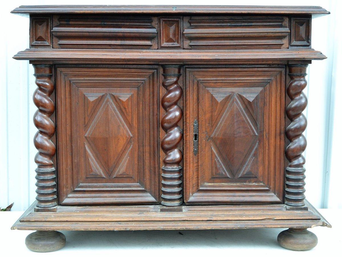 Sideboard Louis XIII In Walnut