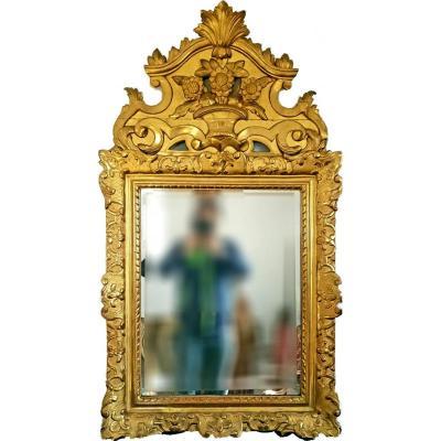 Miroir Louis XV En Bois Doré