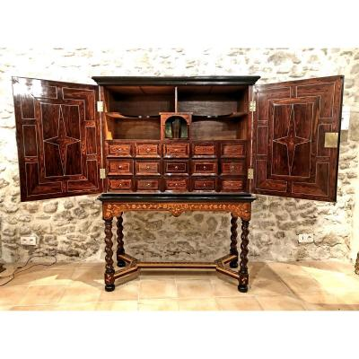 Florentin Cabinet In Marquetry