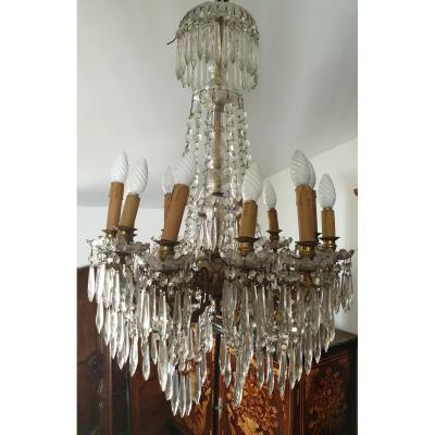 Chandelier With Pendants 12 Arms Of Lights