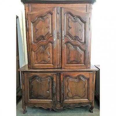 Two-body Walnut Cabinet