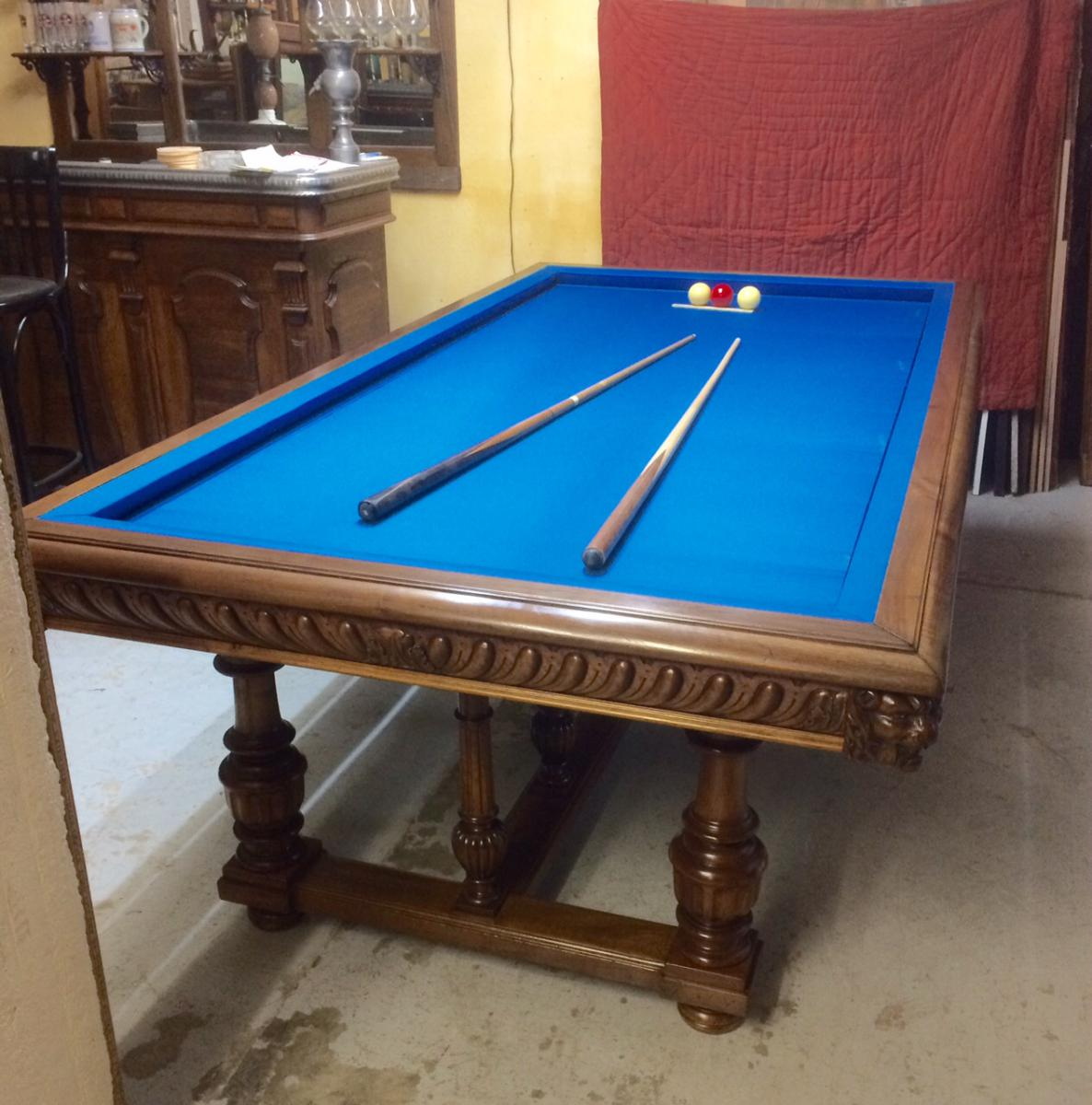 Billard table billards anciens for Plan table de billard