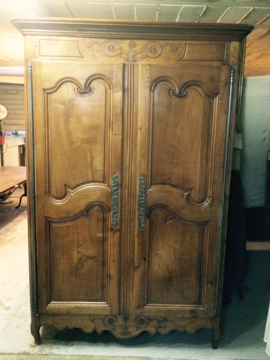 Armoire louis xv en merisier armoires - Acheteur de meubles usages ...