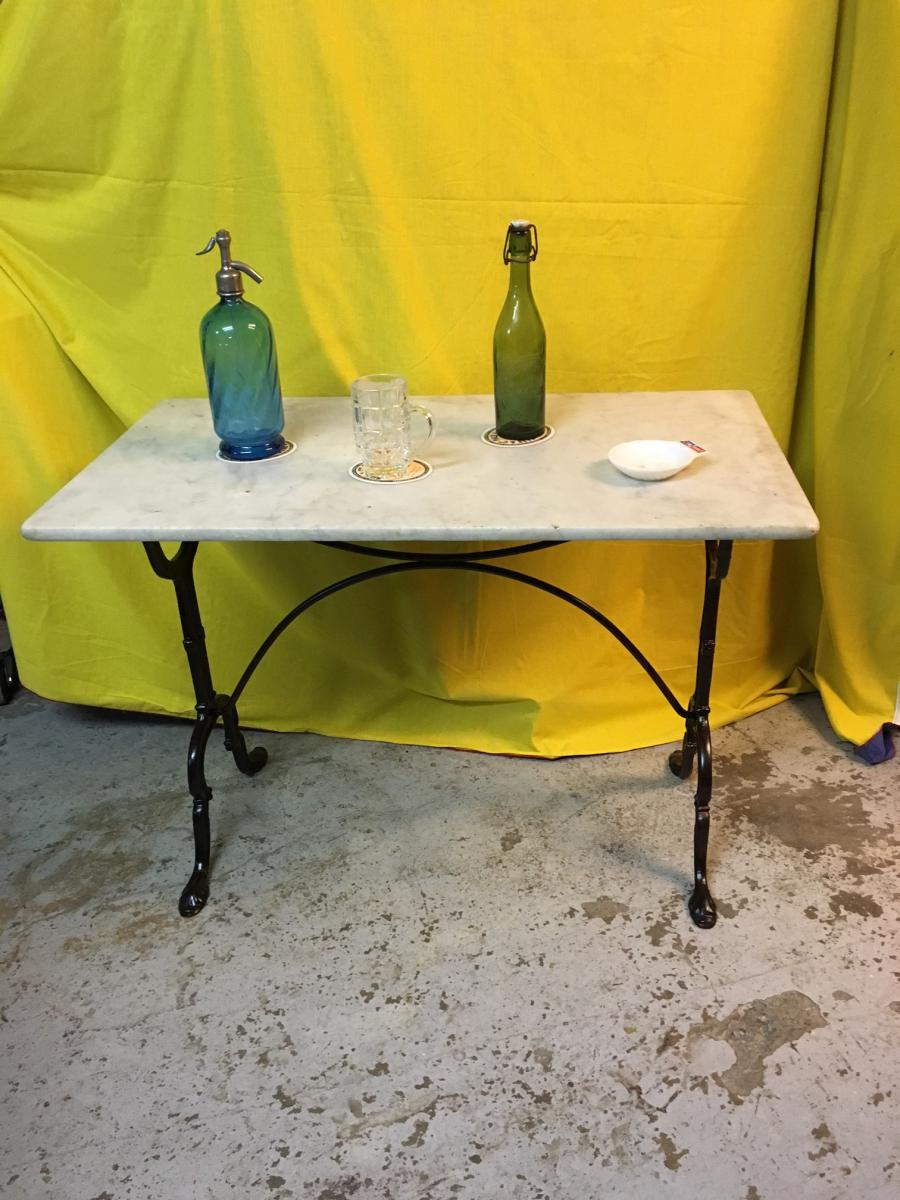 Table de bistrot dessus marbre bars anciens - Table marbre bistrot ...