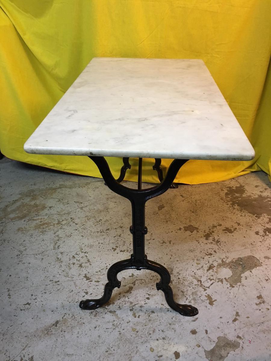 Table De Bistrot Dessus Marbre Bars Anciens