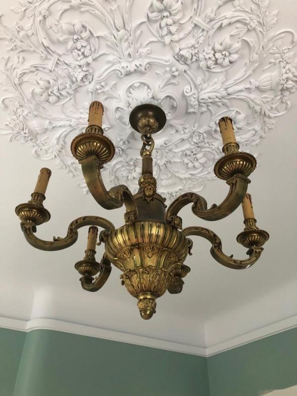 Lustre En Bronze De Style Louis XVI