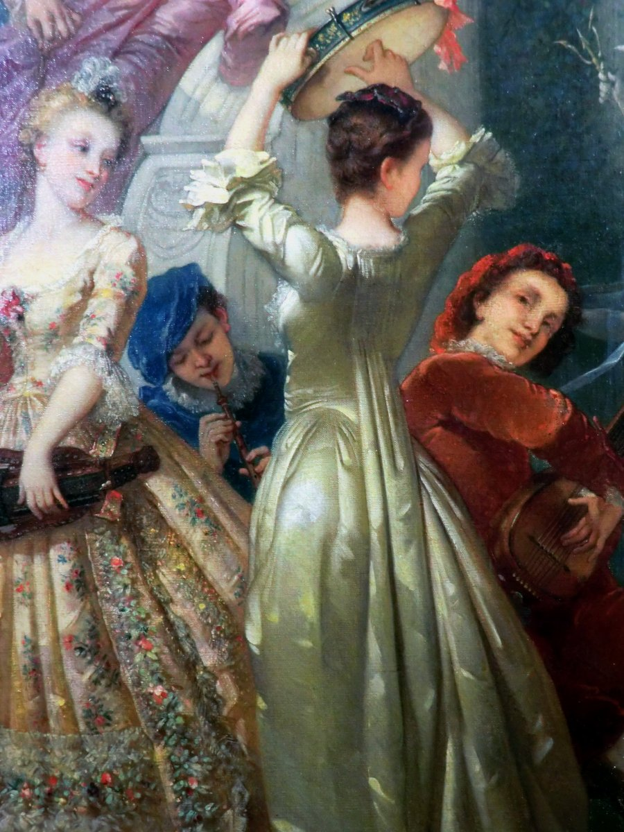 André Charles Voillemot (1823-1893).  163.5cm x130.8cm-photo-2