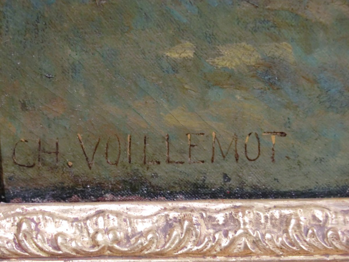 André Charles Voillemot (1823-1893).  163.5cm x130.8cm-photo-4