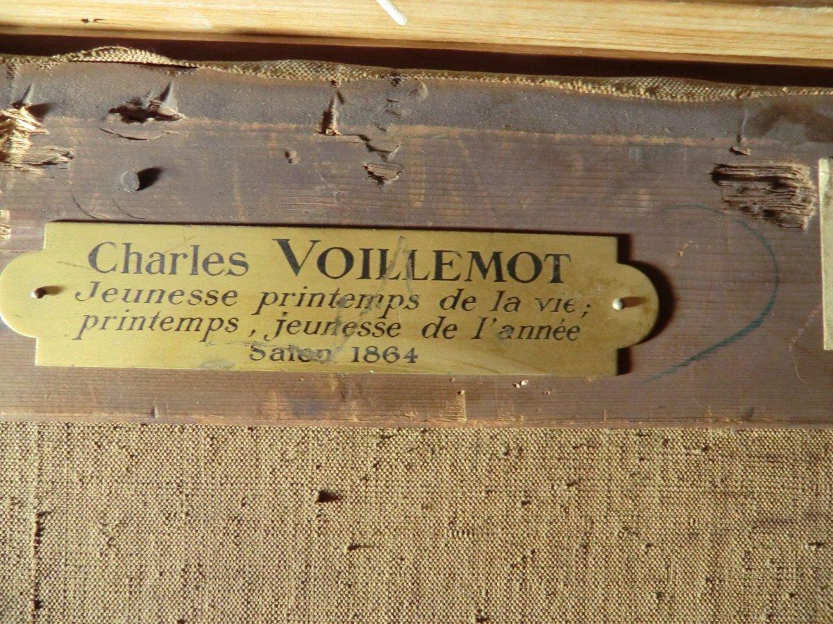 André Charles Voillemot (1823-1893).  163.5cm x130.8cm-photo-1