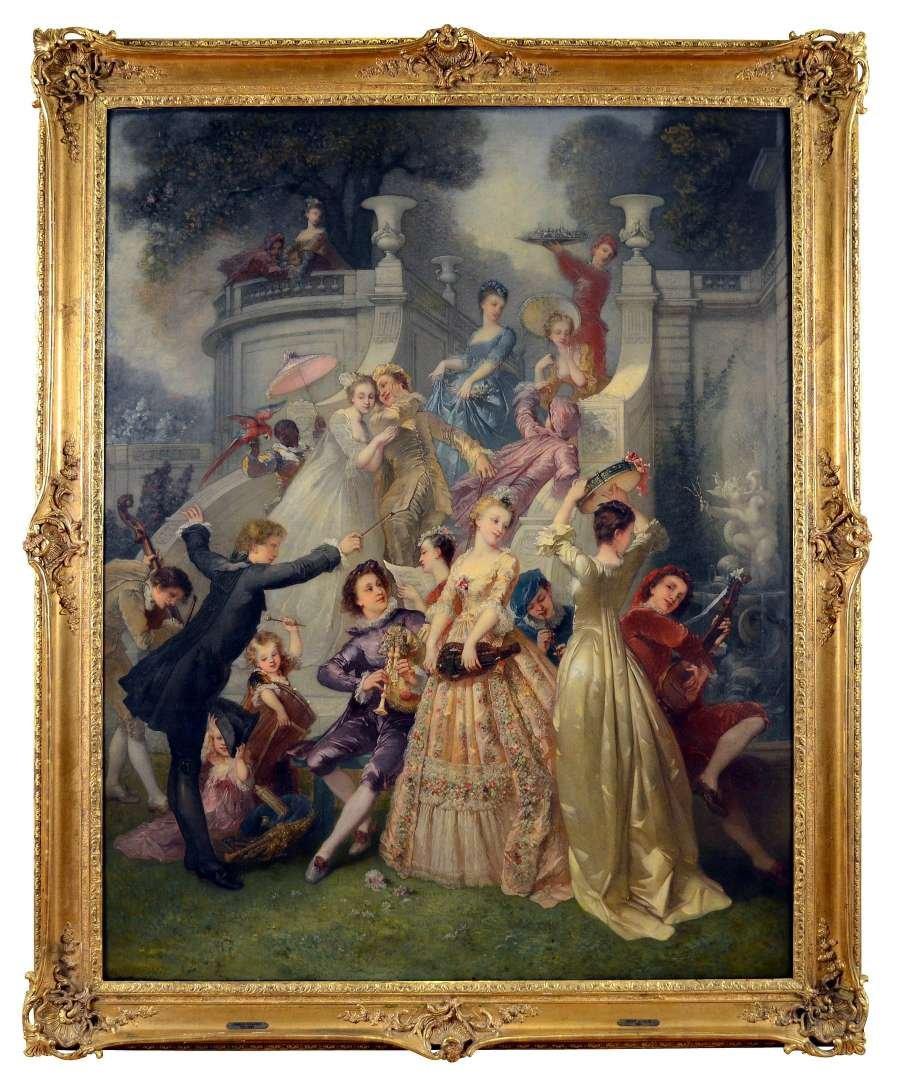 André Charles Voillemot (1823-1893).  163.5cm x130.8cm