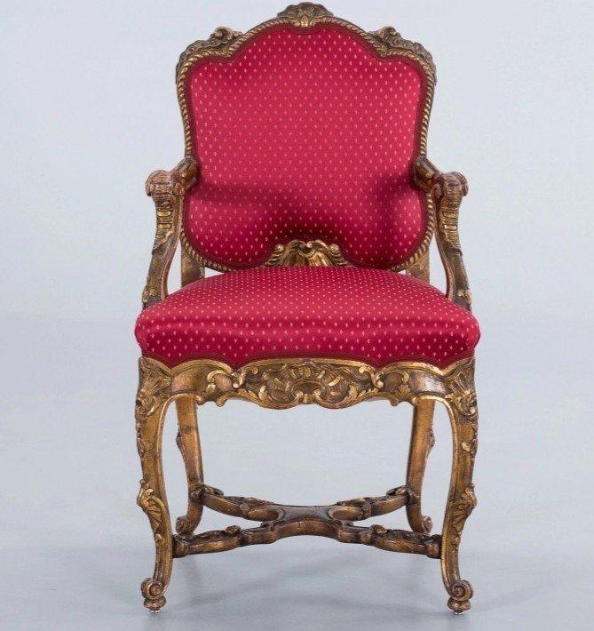 Fauteuil De Style Louis  XV. XIXème-photo-2
