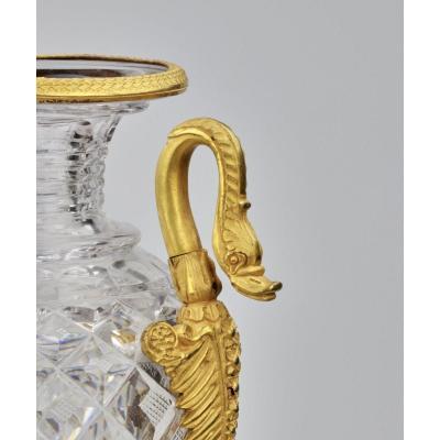 Vase En Cristal Du XIXème Siècle