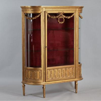 Showcase In The Style Of Louis XVI. Gilded Wood