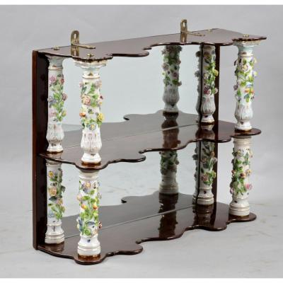 Meissen Porcelain Shelf With Columns