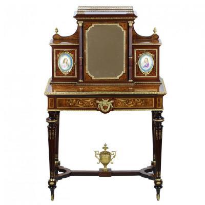 Bonheur Du Jour En MarqueterieDe Style Napoleon III