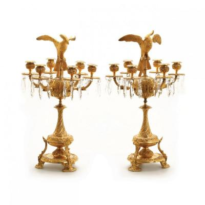 A Pair Of Candelabra. 19th Century Russia. H-53cm