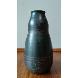 Jean Luce, Vase En Grès Art Déco