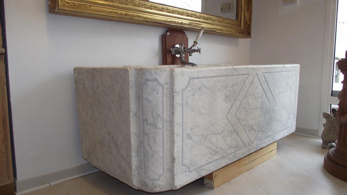 baignoire en marbre - vitraux, ferronnerie, pierre