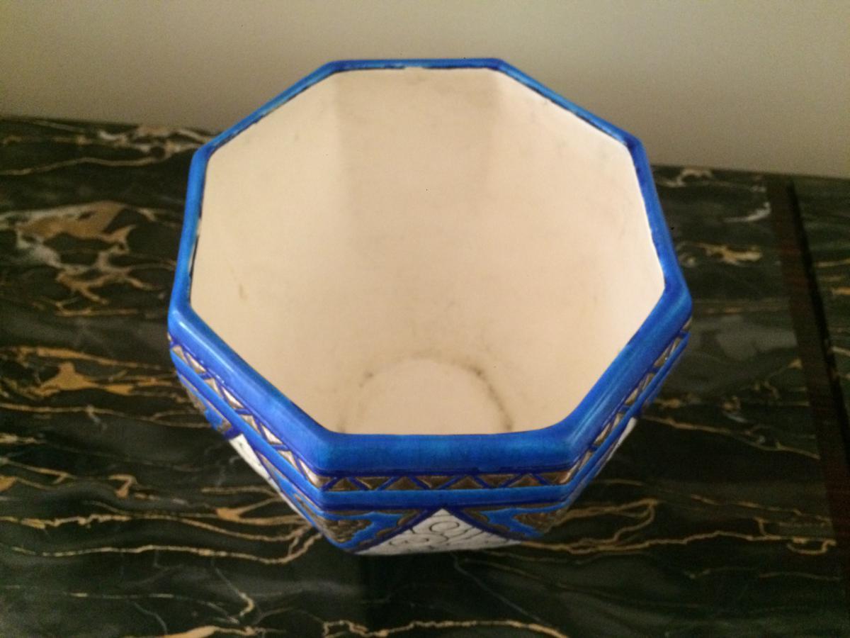 Cache Pot Longwy Art Déco-photo-2