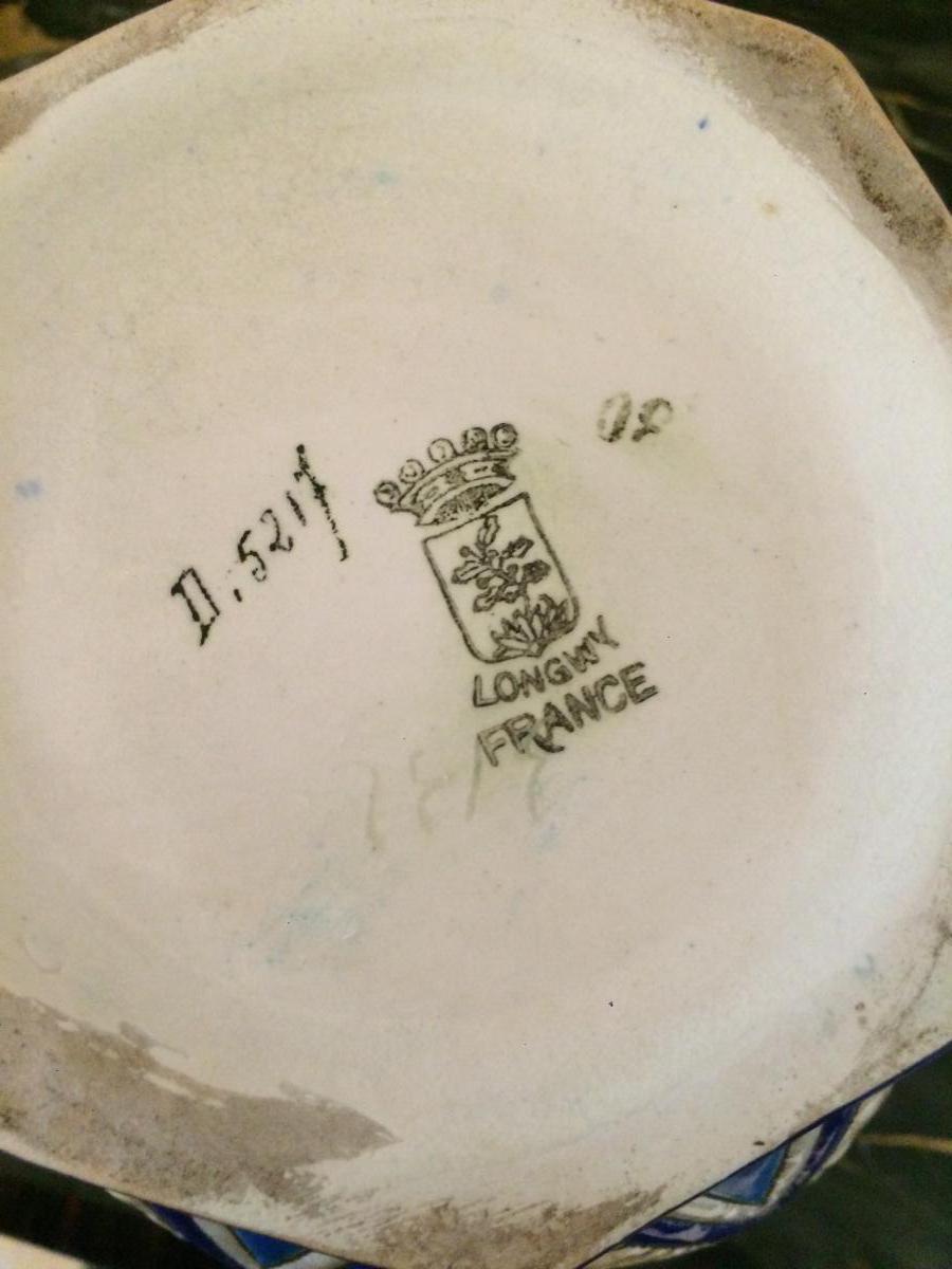 Cache Pot Longwy Art Déco-photo-3