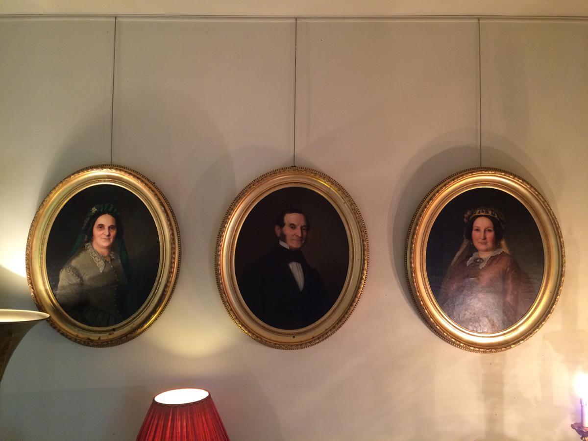 3 Grands Portraits Milieu XIX ème