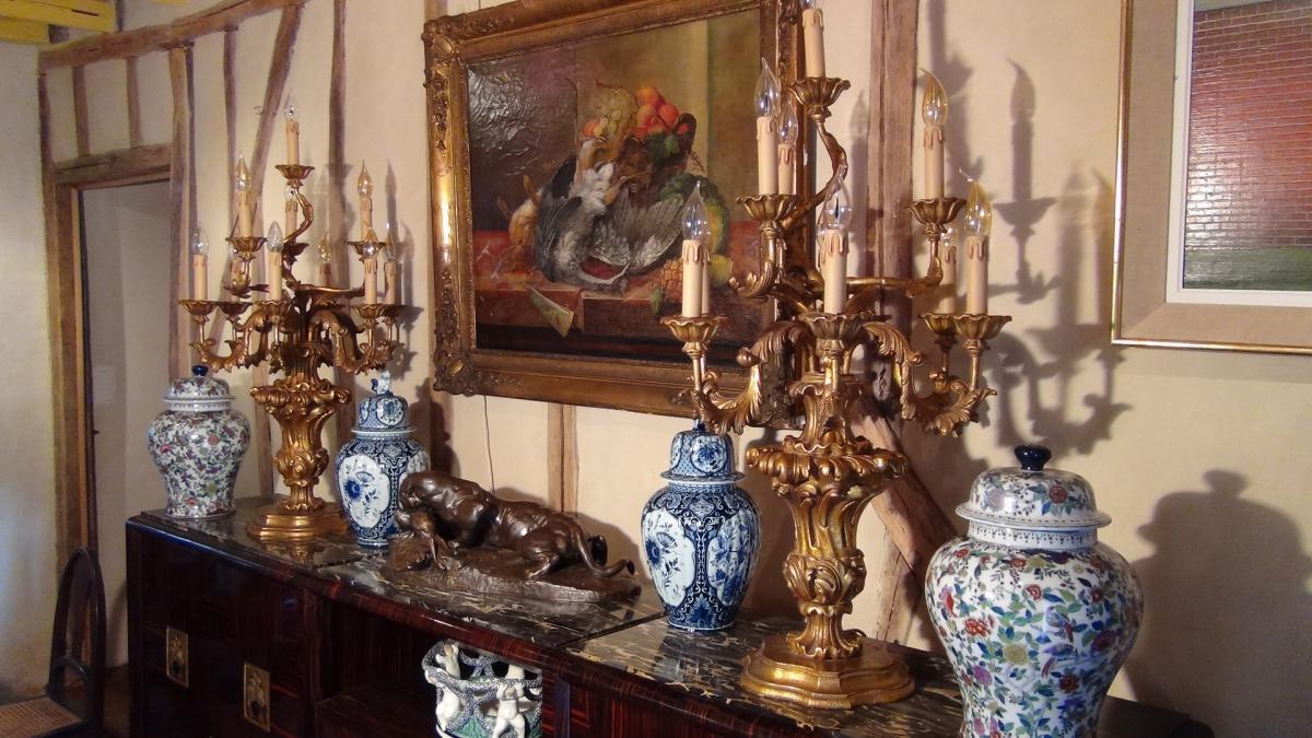 Paire De Flambeaux Style XVIIIème