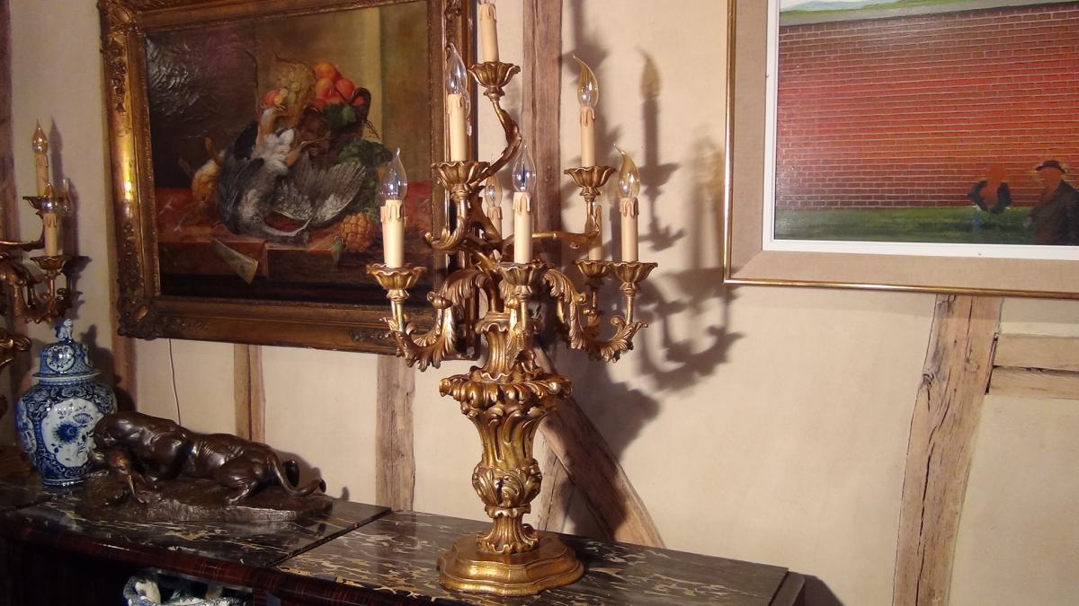 Paire De Flambeaux Style XVIIIème-photo-2