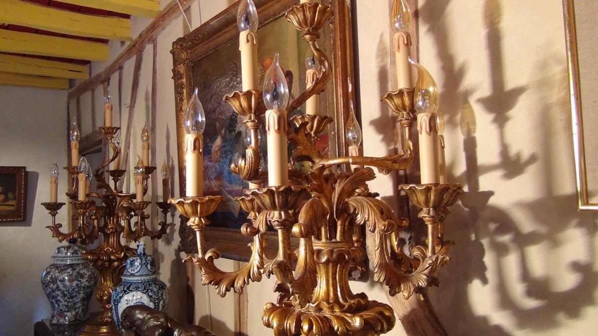 Paire De Flambeaux Style XVIIIème-photo-4