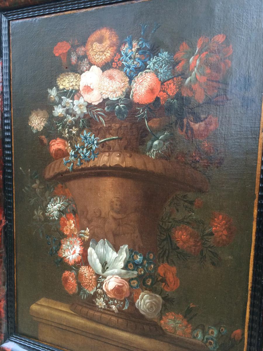 Bouquet de Fleurs fin XVII ème -photo-3