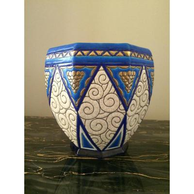 Cache Pot Longwy Art Déco