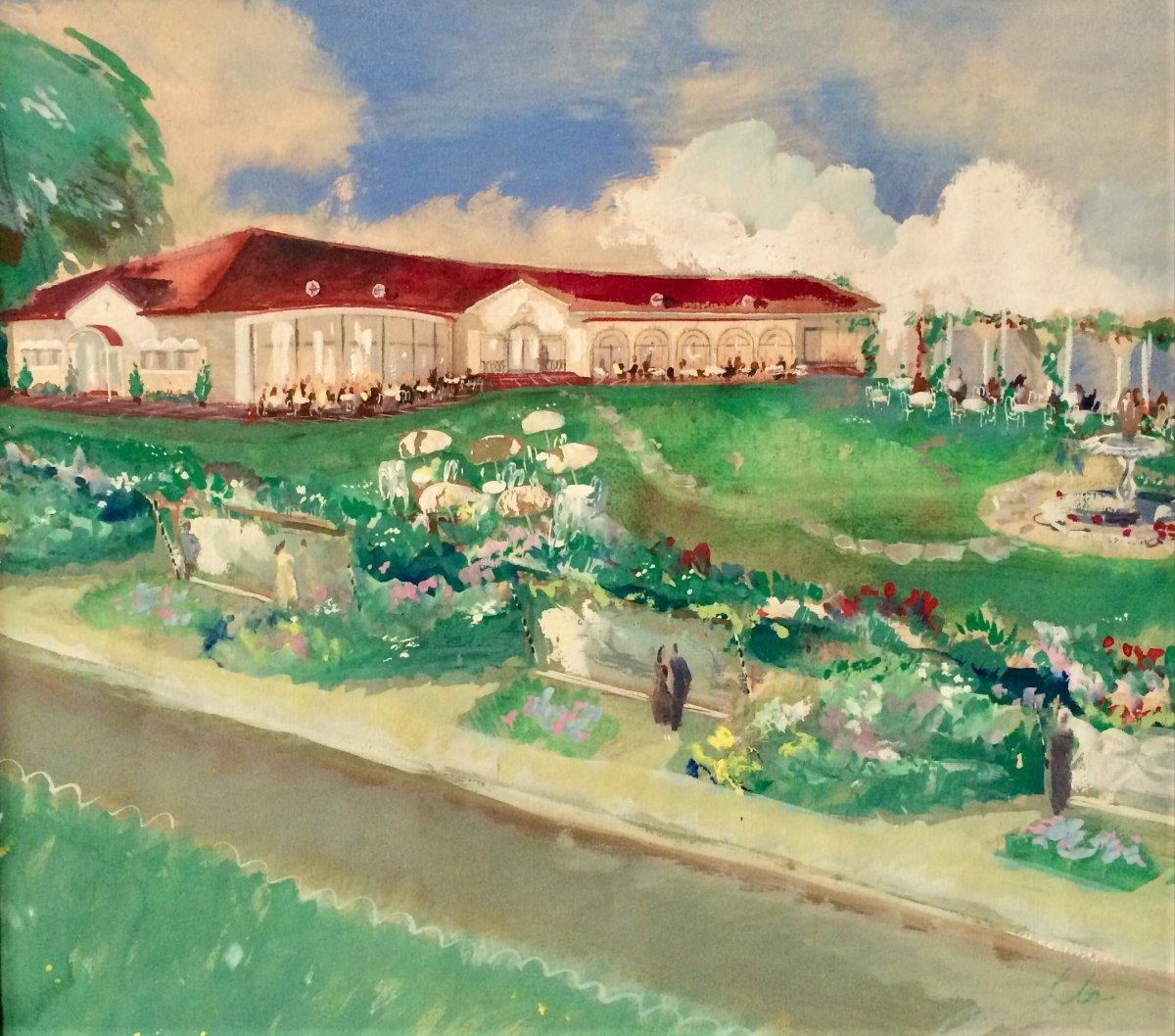 Knokke, Hôtel La Reserve, avant-projet de l'architecte Léon Govaerts