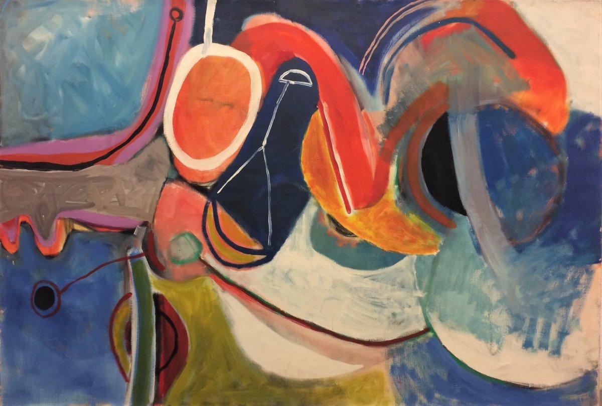 Abstraction. Françoise Brunet.  1968. Ecole francaise.