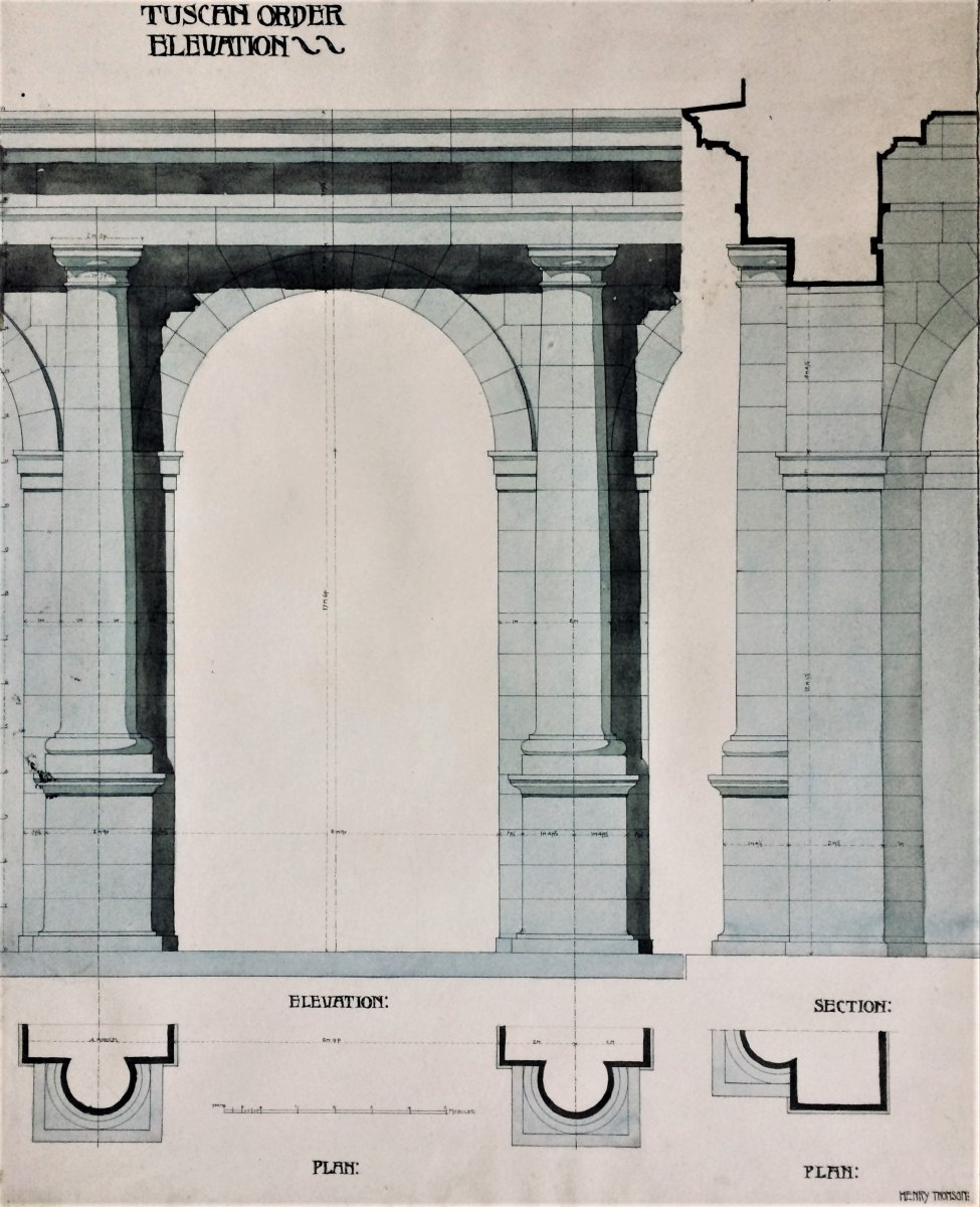 Architecture Drawing. Henry Thomson. 1899.-photo-2