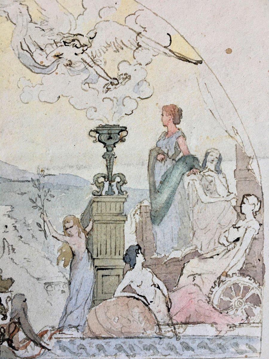 Allégorie du progrès. Ville de Lyon. Projet de fresque. Fin XIX.-photo-4