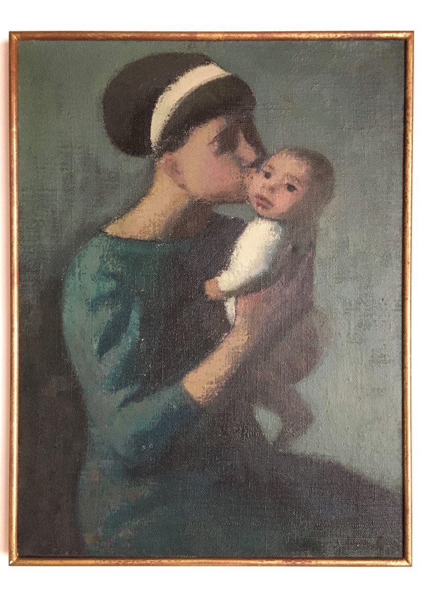"Adrian Rosa  (Grenade , 1931). "" Mère et enfant"". 1962."