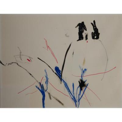 Pastel. Jean De La Fontaine. Art Abstrait.1986.