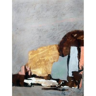 Abstraction. Florimont Dufoor. 1992. Technique mixte.
