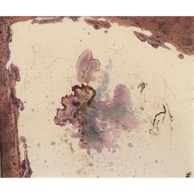 Abstraction. Gaston Xhardez. Vers 1960. Ecole belge.