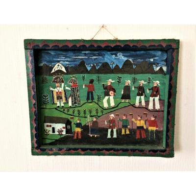 Art Tigua ( Equateur). Célébration chamanique. Années 70.