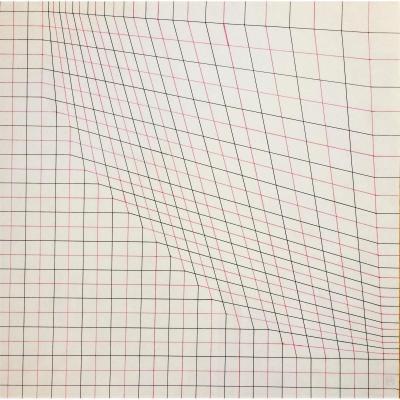 Art Abstrait. Cinétique. Guy Pouppez. Encres. 1969.