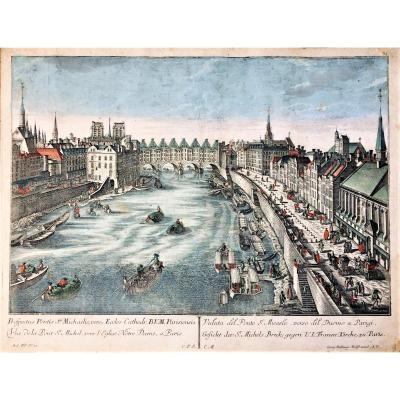 Georg Balthasar Probst. Paire de vues d'optiques. 18°. Paris.