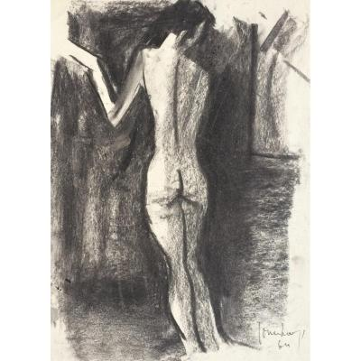 """Expressionnisme. Charles Counhaye. """"Nu"""". 1964."""